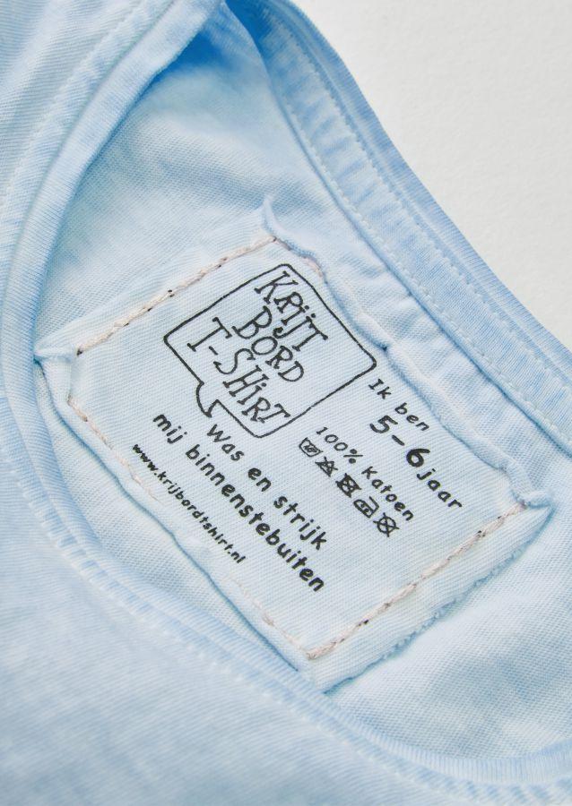 krijtbord tshirt ijsblauw maat 104