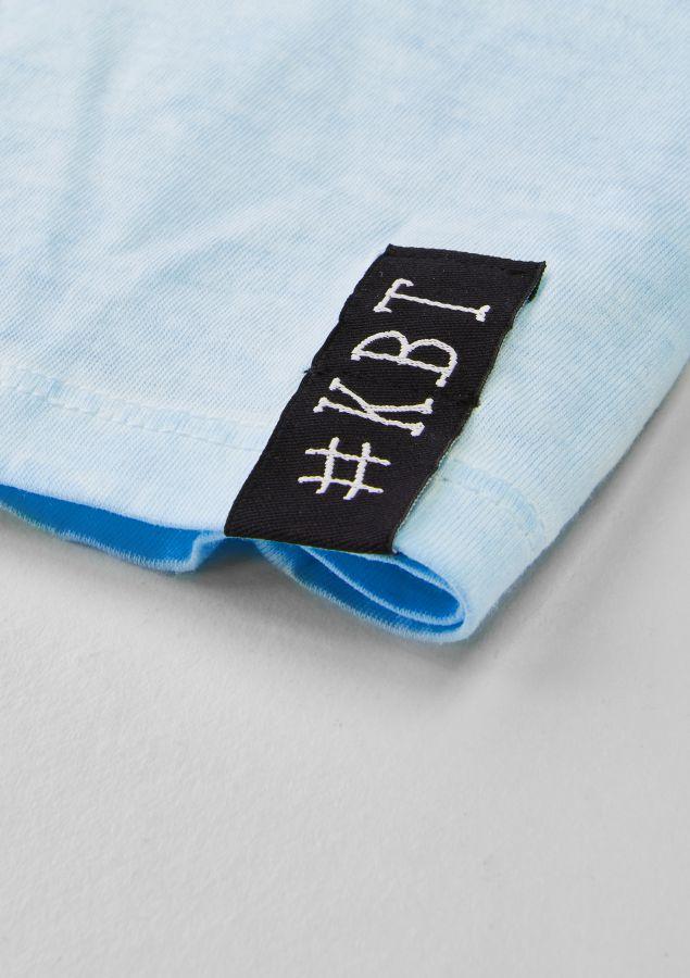 krijtbord tshirt ijsblauw maat 134