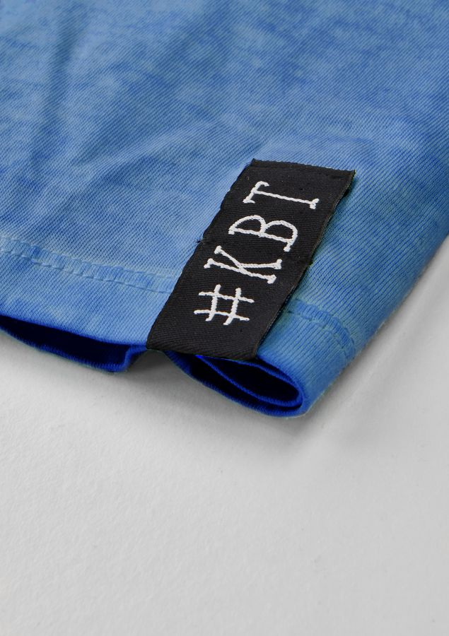 krijtbord tshirt indigo blauw maat 116