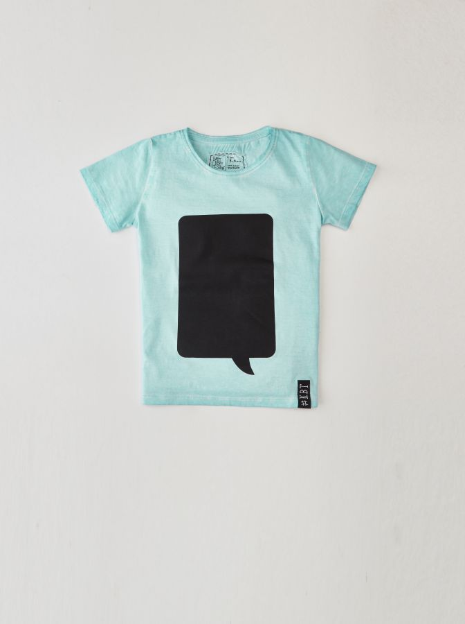 Krijtbord t-shirt Mint Groen (Maat 104)
