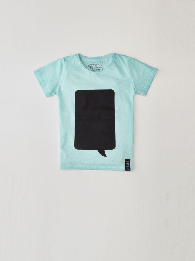 Krijtbord t-shirt Mint Groen (Maat 128)