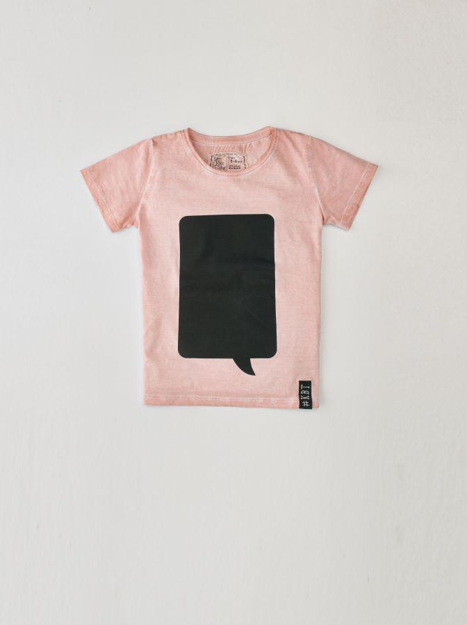 Krijtbord t-shirt Oud Roze (Maat 128)